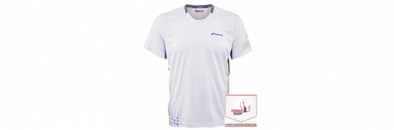 BabolaT T-shirt Crew Neck Perf. Men White Тениска